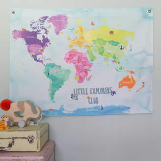The Crafty Traveller Little Explorers Club Childrens Illustrated Map Hanging
