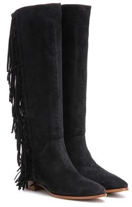 Polo Ralph Lauren Juliana fringed suede knee-high boots
