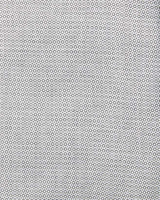 Neiman Marcus Trim Fit Micro Dobby Dress Shirt, Black