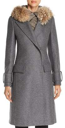 Belstaff Firdale Fur Trim Long Coat