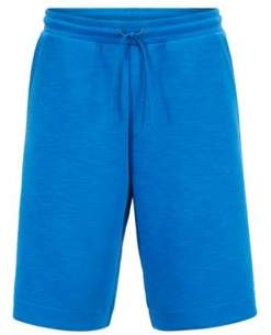 BOSS Hugo Relaxed-fit shorts in stretch-cotton-blend slub L Blue
