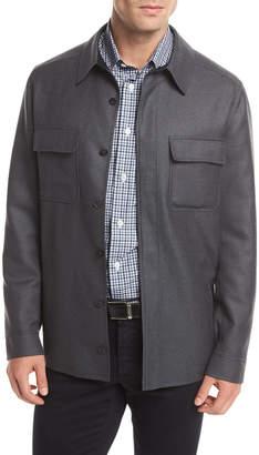 Brioni Wool Shirt Jacket