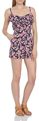 Lipsy Women's Floral Frill Cami Strap Playsuit