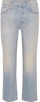 Mother The Tomcat Cropped High-rise Straight-leg Jeans - Light denim
