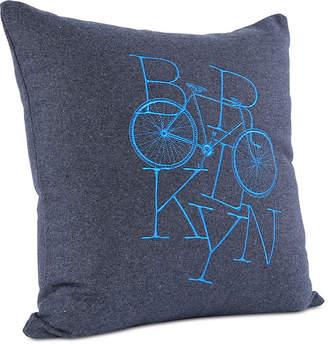 "Berkshire Brooklyn Industries Brooklyn Bike Embroidered 18"" Square Decorative Pillow"