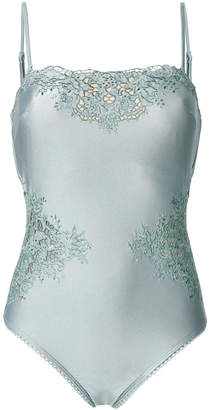 floral embroidered swimsuit