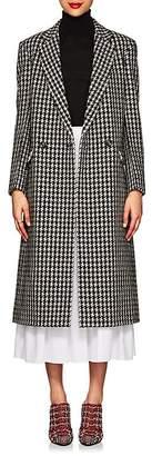 Derek Lam Women's Houndstooth Tweedy Wool-Blend Long Coat
