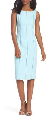 Maggy London Stretch Pique Sheath Dress