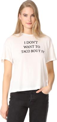 Wildfox Taco Talk Sonic Tee $70 thestylecure.com