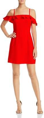 Aqua Ruffled Cold-Shoulder Dress - 100% Exclusive