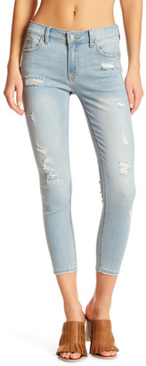 Just USA Mid Rise Distressed Cropped Skinny Jean (Juniors) $59.99 thestylecure.com