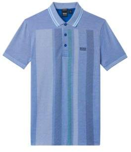 BOSS Hugo Colorblock Polo Shirt, Slim Fit Paule XL Natural