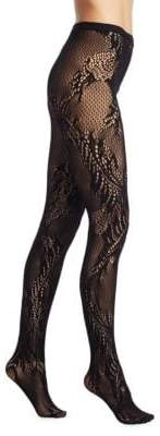Natori Feather Lace Net Tights