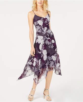 INC International Concepts I.n.c. Floral-Print Handkerchief-Hem Dress