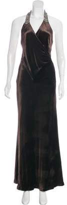 Ralph Lauren Black Label Velvet Evening Dress
