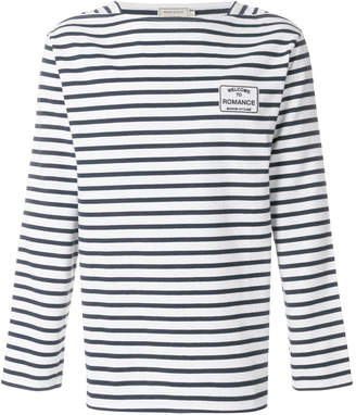 MAISON KITSUNÉ striped long-sleeve sweater