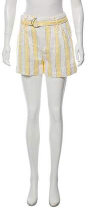 Frame Linen Striped Shorts w/ Tags