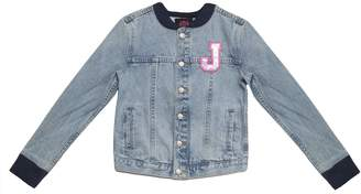 Juicy Couture Juicy Collegiate Patch Denim Bomber Jacket for Girls