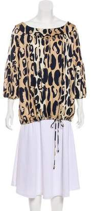 Diane von Furstenberg Printed Long Sleeve Top