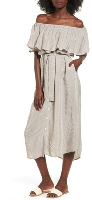 Women's Faithfull The Brand Majorca Off The Shoulder Maxi Dress $179 thestylecure.com