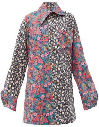 Vivienne Westwood Lottie Oversized Liberty Print Cotton Shirt - Womens - Multi
