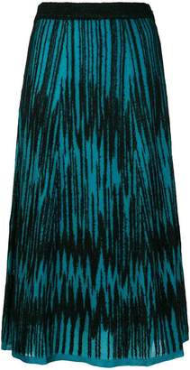 M Missoni lurex zigzag midi skirt
