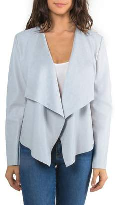 Bagatelle Drape Faux Leather Jacket