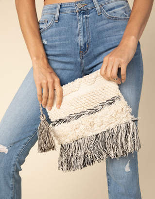 West Of Melrose Woven Clutch