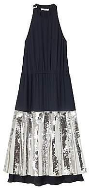 Tibi Women's Claude Layered Sequin Dress