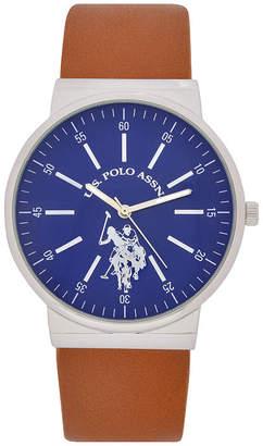 U.S. Polo Assn. USPA Mens Brown Strap Watch-Usc50477jc