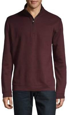 Black & Brown Black Brown Quarter-Zip Cotton-Blend Sweater