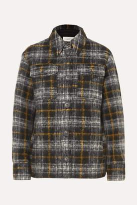 Etoile Isabel Marant Gaston Checked Wool-blend Jacket - Black