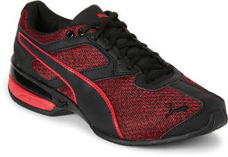 Puma Kids Boys) Red & Black Tazon 6 Knit Low-Top Sneakers
