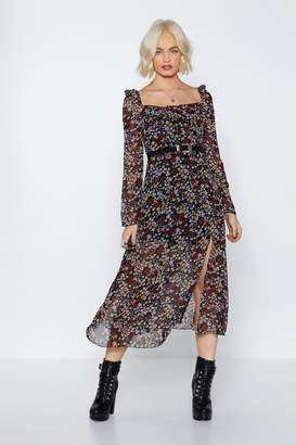 Nasty Gal Getting Midi With It Floral Dress