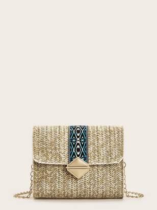 Shein Chain Strap Flap Crossbody Bag