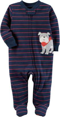 Carter's Baby Boys' Striped Dog Footie