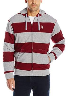 U.S. Polo Assn. Men's Rugby-Stripe Fleece Hoodie