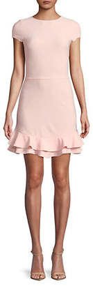 Lord & Taylor DESIGN LAB Fit and Flare Double-Ruffle-Hem Dress