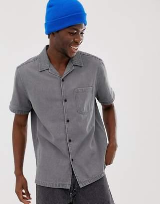 Asos Design DESIGN oversized denim shirt in grey