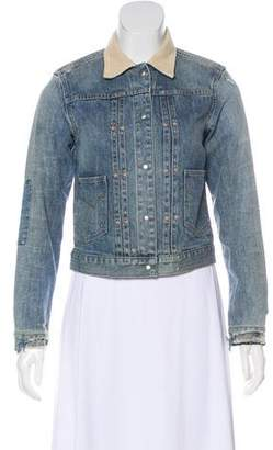 AllSaints Denim Distressed Jacket