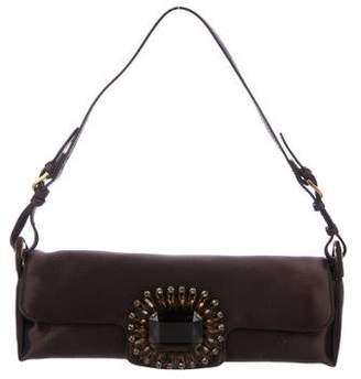 Jimmy Choo Embellished Satin Evening Bag