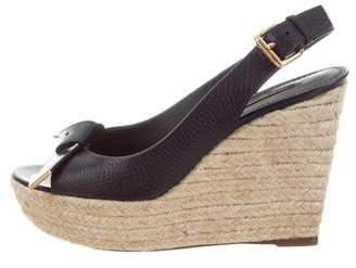 Louis Vuitton Leather Espadrilles Sandals
