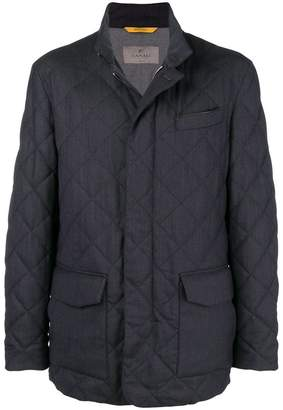 Canali quilted lightweight jacket