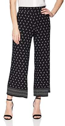 Max Studio Women's Printed Jersey Crop Straight Pant