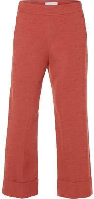 Via Masini 80 - Terracotta Cropped Armoured Viscose Cady Trousers