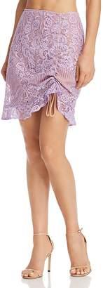 For Love & Lemons Valentina Lace Mini Skirt