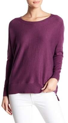 Eileen Fisher Boatneck Hi-Lo Knit Sweater