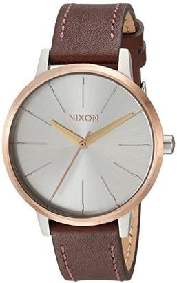 Nixon Women's 'Kensington Leather' Quartz Stainless Steel Casual Watch