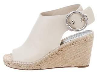 Celine Leather Round-Toe Wedges