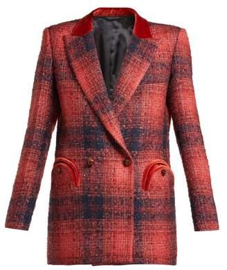 Blazé Milano - Hickstead Checked Double Breasted Blazer - Womens - Red Multi